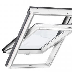 VELUX GLU 0051B okno dachowe obrotowe łazienkowe z dolnym otwieraniem [2-szybowe]