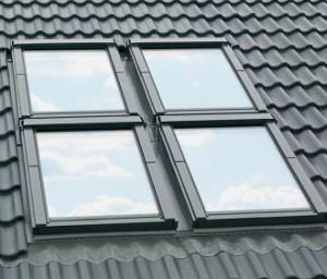VELUX EKW 0021 – kołnierze do zespoleń okien dachowych kombi (dwa okna obok siebie)