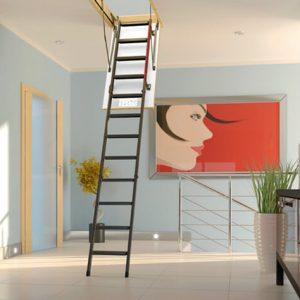 Metalowe schody strychowe