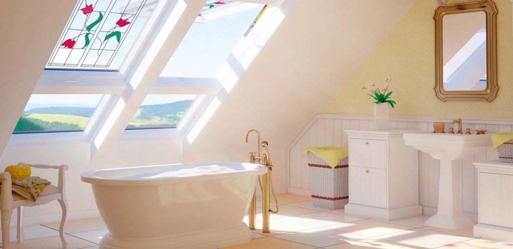 okna dachowe łazienkowe