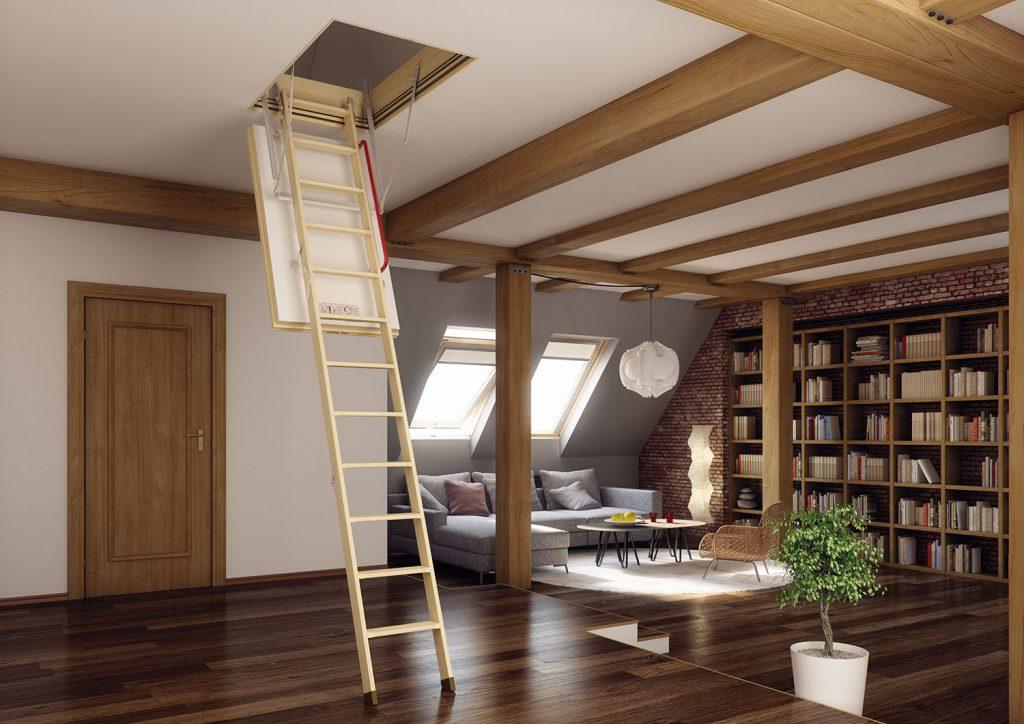 schody strychowe energooszczędne fakro