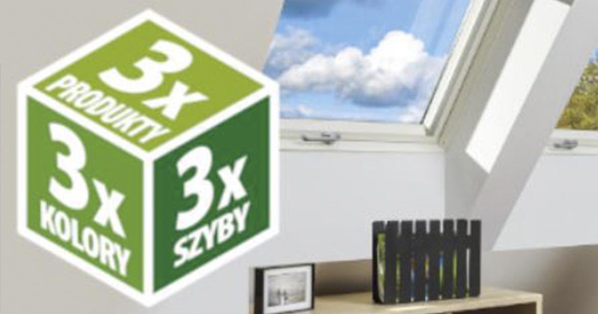 3x3 fakro promocja na okna dachowe trzyszybowe