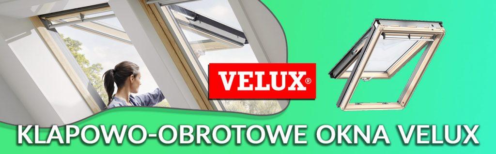 okna dachowe klapowo obrotowe drewniane velux