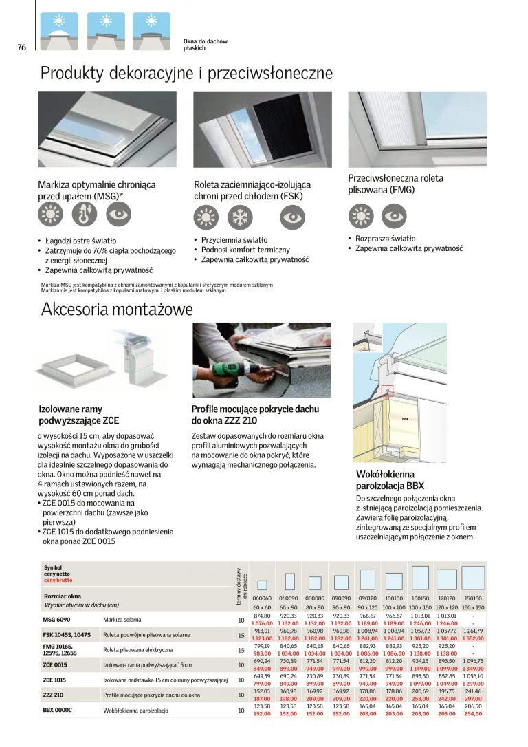 akcesoria na okna dachowe cennik velux 2021 (5)