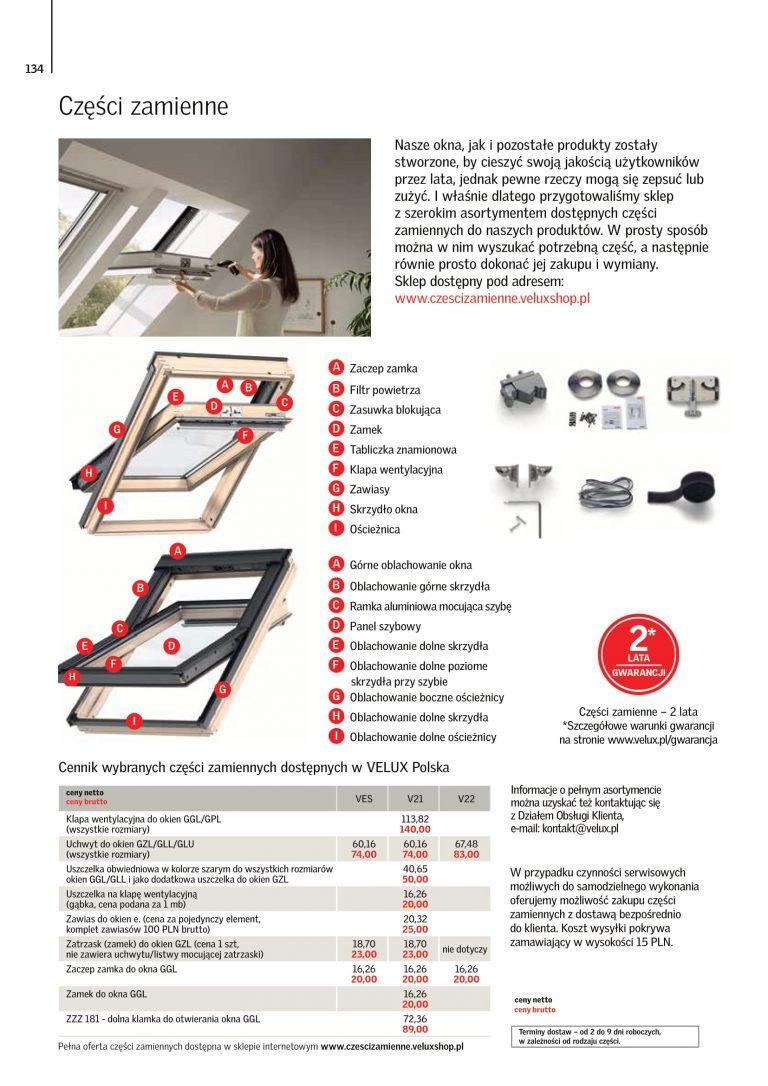 cennik okien na dach velux 2021 (7)