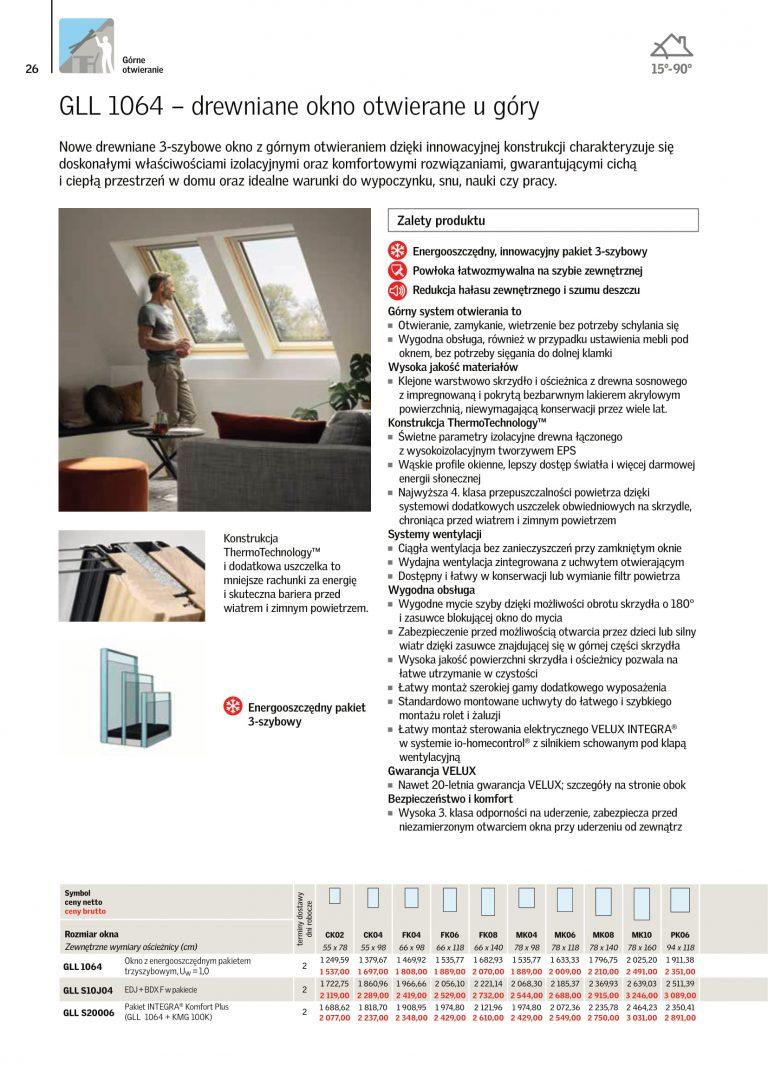 velux 2021 katalog okna dachowe