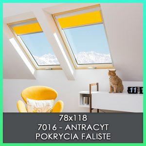 fakro zestaw okien kombi 78x118 antracyt faliste