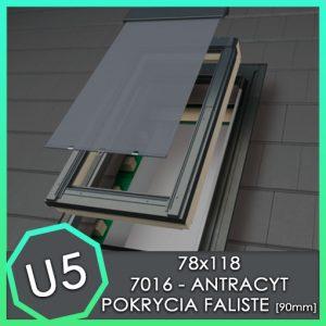 fakro zestaw okno ftp U5 z markiza AMZ 78x118