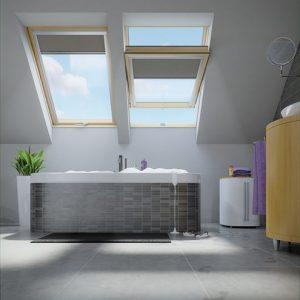 FAKRO PTP-V U3 – Okno dachowe obrotowe łazienkowe [Dwuszybowe]